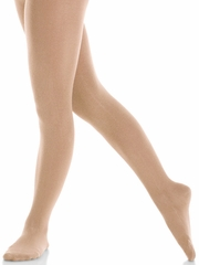 Mondor Suntan Satin Finish Footed Tights