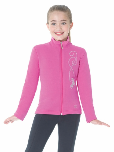 Mondor Super Pink Polartec Jacket w/ Rhinestones Design At Front