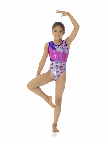 Mondor Wide Insert Purple Heartbeat Leotard