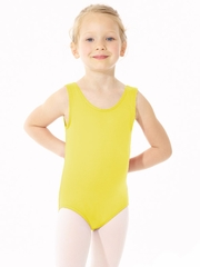 Mondor Yellow Essentials Tank Leotard