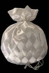 Money Bag w/ Ivory Organza Criss Cross Pattern