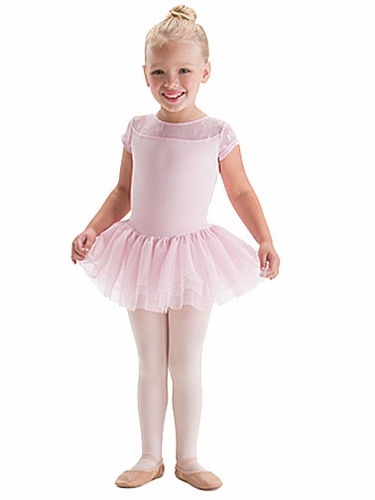 Motionwear Anabelle Yoke Top Cap Sleeve Tutu Leotard