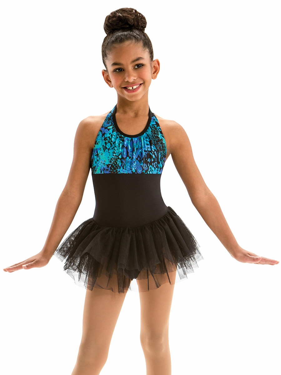 307672de7 Click to Enlarge. Motionwear Bayou Charms Pleated Halter Front Tutu Leotard