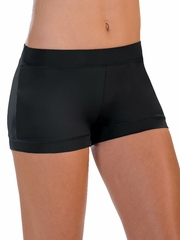 Motionwear Black Banded Leg Boy Cut Shorts