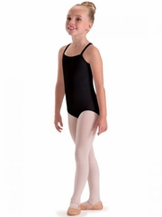 Motionwear Black Camisole Leotard w/ V-Back Straps