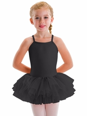 Motionwear Black Camisole Tutu Leotard