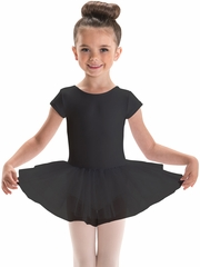 Motionwear Black Cap Sleeve Tutu Leotard