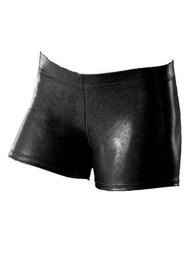 Motionwear Black Shine On Gym Low Rise Shorts
