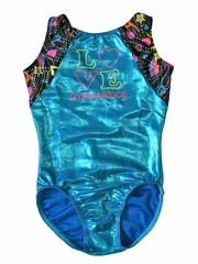 Motionwear Flippin Sweet Love Gym Cloverleaf Leotard