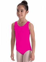 Motionwear Fuchsia Wide-Strap Heart-Back Leotard