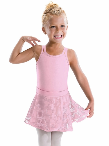 Motionwear Hugs & Jitterbugs Pink Pull On Bound Edge Wrap Skirt