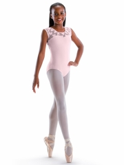 Motionwear Hugs & Jitterbugs Pink Sweetheart Cap Sleeve Leotard