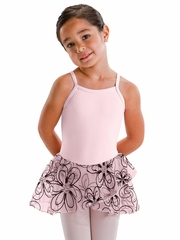 Motionwear Juliet Pink Double Skirt Camisole Leotard