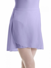 Motionwear Lavender Pull-On Wrap Crepe Skirt
