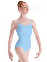 Motionwear Light Blue Camisole Leotard w/ V-Back Straps