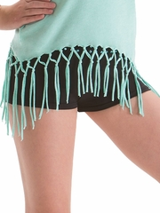 Motionwear Mint Stud Roll Top Low Rise Short