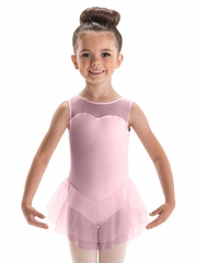 Motionwear Pink Sweetheart Tank Double Skirted Leotard
