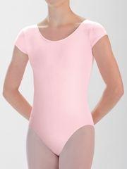 Motionwear Pink Cap Sleeve Leotard