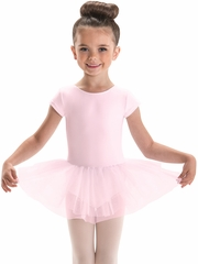 Motionwear Pink Cap Sleeve Tutu Leotard