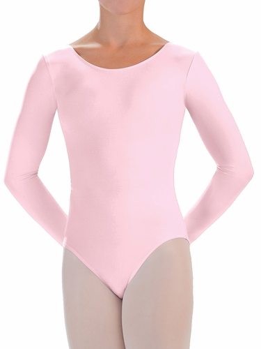 Motionwear Pink Long Sleeve Leotard