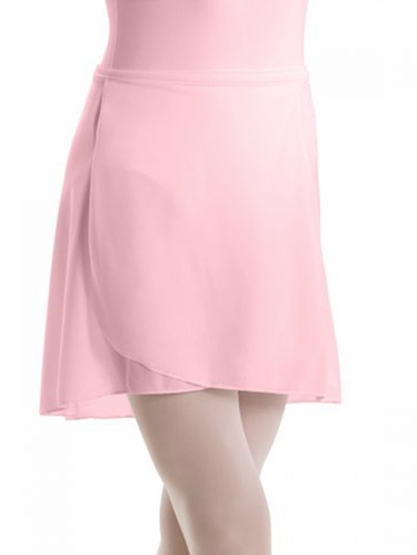 Motionwear Pink Pull-On Wrap Crepe Skirt