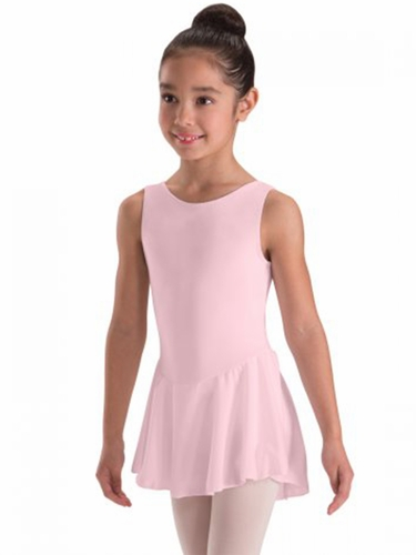 Motionwear Pink Tank Skirted Leotard