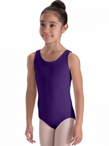 Motionwear Purple Wide-Strap Heart-Back Leotard