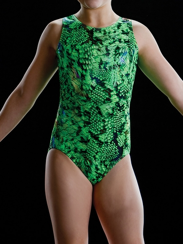 Motionwear Seascape Lime Gym Tank Leotard