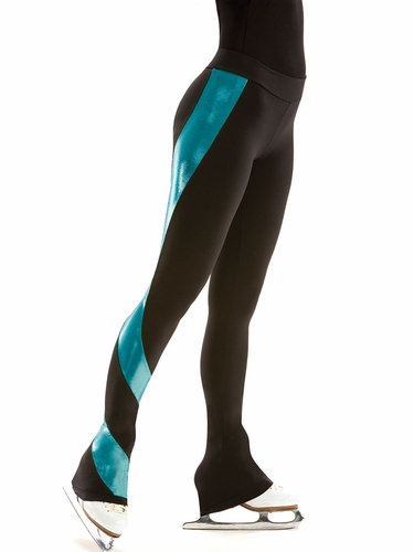 Motionwear Shine On Ocean Skate Flat Waist Swirl Pant