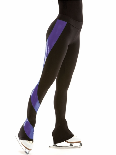 Motionwear Shine On Purple Skate Flat Waist Swirl Pant