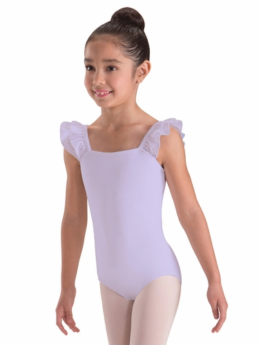 Motionwear Violet Double Ruffle Bandeau Leotard