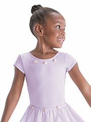 Motionwear Violette Bow Back Cap Sleeve Leotard