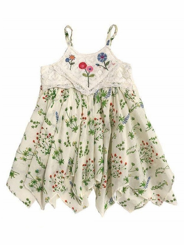 Mimi & Maggie Multicolor Botanical Gardens Babies Green House Plants Dress