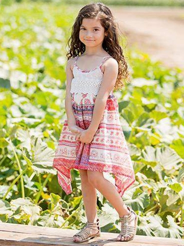 Mimi & Maggie Multicolor Tuscan Village Collection Brittany Dress