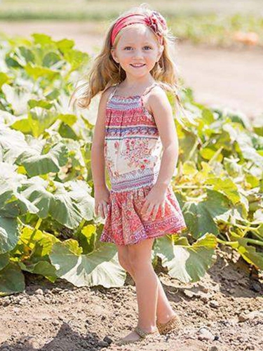 Mimi & Maggie Multicolor Tuscan Village Collection Summer in Tuscany Romper