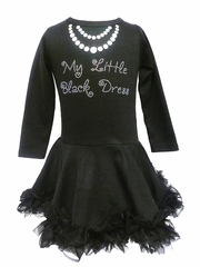 My Little Black Dress Full Ruffle Chiffon Dress
