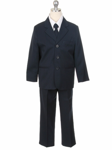 Navy 3-Button 5 Piece Boys Suit