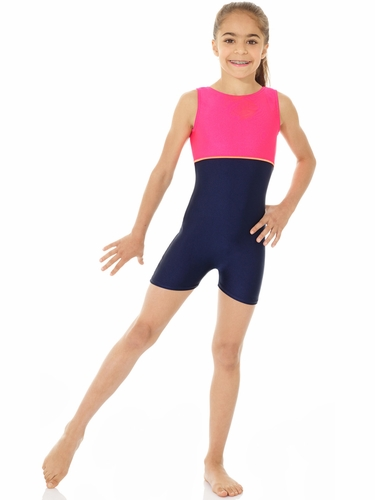 Mondor Navy Blue Shiny Tank Unitard