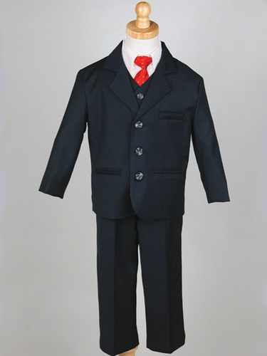 Boys' Navy 5 Piece Suit