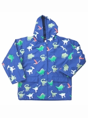 Navy Dinosaur Raincoat