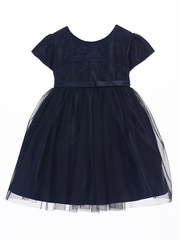 Navy Lace Ballerina Dress