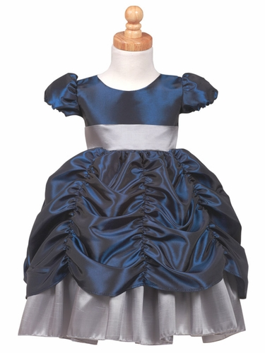 Navy/Silver Princess Taffeta Dress