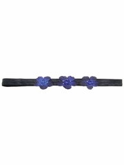 Navy Three Flower Infant Headband