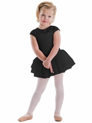 Motionwear Hugs & Jitterbugs Black Yoke Top Cap Sleeve Tutu Leotard