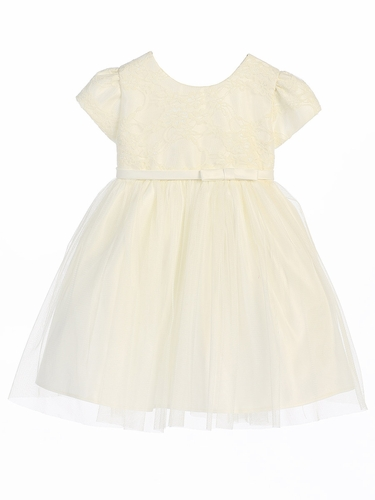 Off White Lace Ballerina Dress