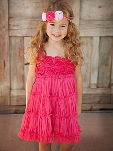 One Posh Kid Fuchsia Pixie Girl Dress