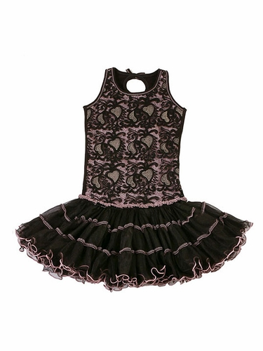 Ooh! La La! Couture Black & Pink Poufier Dress