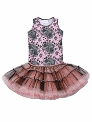Ooh! La La! Couture Black/Pink Toile Poufy Dress