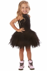 Ooh! La La! Couture RES171805 Black Crystal Carrie Dress