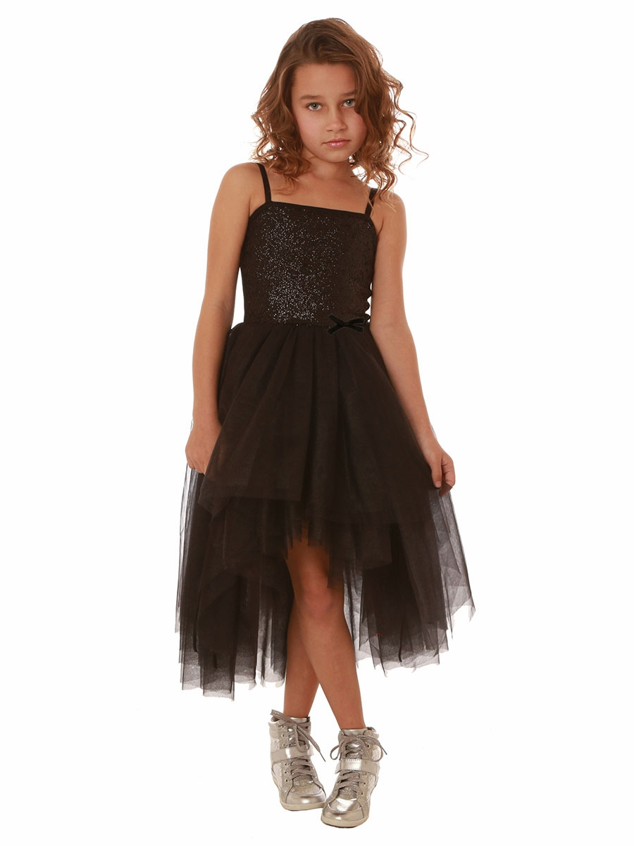 ooh la la couture black sequin kylee high low dress